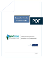 Sweet Water Position Announcement -- Executive Director