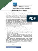 Cisco Catalyst 6500 Series Virtual Switching Supervisor Engine 720 With 10 Gigabit Ethernet Uplinks