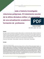De Amézola, Gonzalo. Historia enseñada e historia investigada.pdf