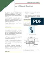 Sensor Ultrasonico Emisor Receptor Medicion de Distancia