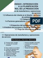UNIDAD I. Intrdsfdsfsdoducción Planificacion Control Produccion