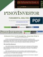 PinoyInvestor Academy - Fundamental Analysis Part 4