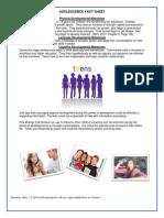adolescence fact sheet
