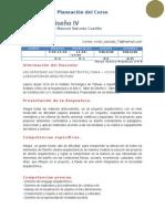Temario y Evaluacion Alumnos TALLER DISEÑO IV