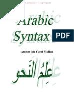 Arabic Syntax