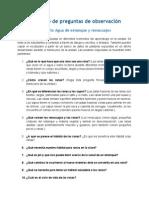 Cuaderno de preguntas de orientació del proyecto Agua de estanque y renacuajos