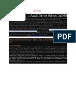 Audi Drive Select en Francais