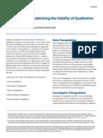 Triangulation_establishing Validity of Qualitative Studies