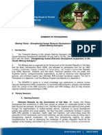 Proceedings of the Thirteenth Meeting of the Working Group on Human Resource Development (WGHRD-13)