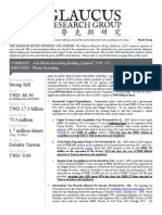 GlaucusResearch-Asia Plastic Recycling-TWSE 1337-Strong Sell April 24 2014-EnGLISH-FULL-REPORT