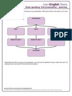 Oral Presentation - Planning Sheet 3