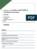 Transaction Launchers COE