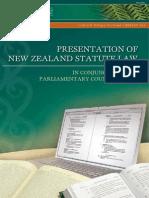 Presentation of New Zealand Statute Law