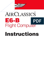 E6B Flight Computer Manual