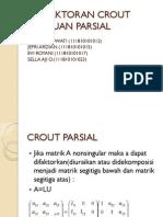 Pemfaktoran Crout Tumpuan Parsial