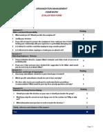 Homework Evaluation Form