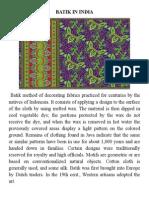 Batik in India