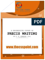 A Progressive Course on Precis Writing
