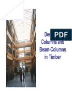 Design of Timber Columns and Beam-Columns