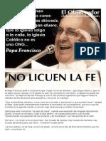 El Papa Francisco Pidió a Los Jóvenes Que