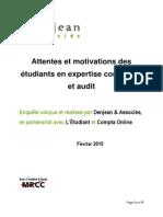 Enquête Etudiants EC Et Audit, 2015