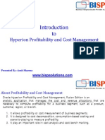 Oracle  Hyperion Profitibility and Cost Allocation Introduction