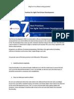 7 Best Practices for Agile Test Driven Development