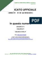 C.U. 39 DEL 09.02.2015