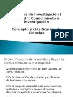 La Ciencia y Su Clasificacion2