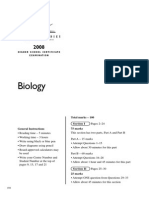2008HSC Biology