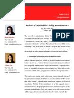Analysis of the Final EB-5 Policy Memorandum II