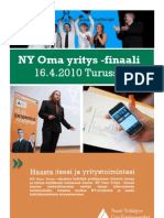 NY Oma Yritys -Finaali 16.4.2010 Turussa