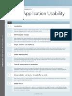 DZone Checklist WebApplicationUsability