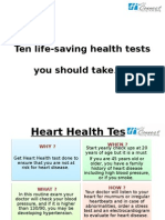 Ten life-saving health tests, you should take