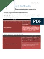 u1l5 cloud computing worksheet - mathew maj