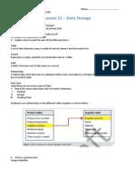 u1l11 data storage worksheet - mathew maj