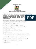 The Launch of Presidential Digital Talent Program at University of Nairobi