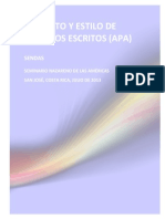 Formato y Estilo de Trabajos Escritos APA