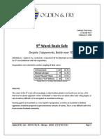 Aldertrack Poll - Ward 9