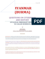 Ashin Htavara So-called Rohingya Bengali Problems in Burma