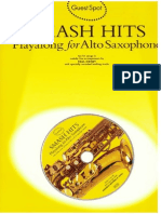 Paul Honey - Smash Hits - Playalong for Alto Saxophone