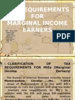 Tax on MIEs