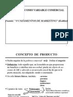 Producto Como Variable Comercial