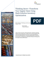 Thinking Anew Transform Supply Chain With Multi Echelon Inventory Optimization (ChainLink) July 2013