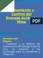 Cons TruccTratamiento y Control del Drenaje Acido de Mina