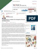 La Crónica de Hoy | Transparencia y combate a la corrupción, binomio del Estado eficaz