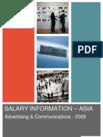 Hudson Asia Advertising Communications Salary Information