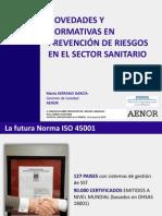 NOVEDADES Y  NORMATIVAS EN  PREVENCIÓN DE RIESGOS  EN EL SECTOR SANITARIO