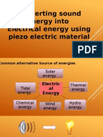 Sound Into Electrical conversion ppt