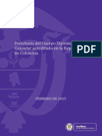 Directorio Cuerpo Diplomático 09 Febrero 2015